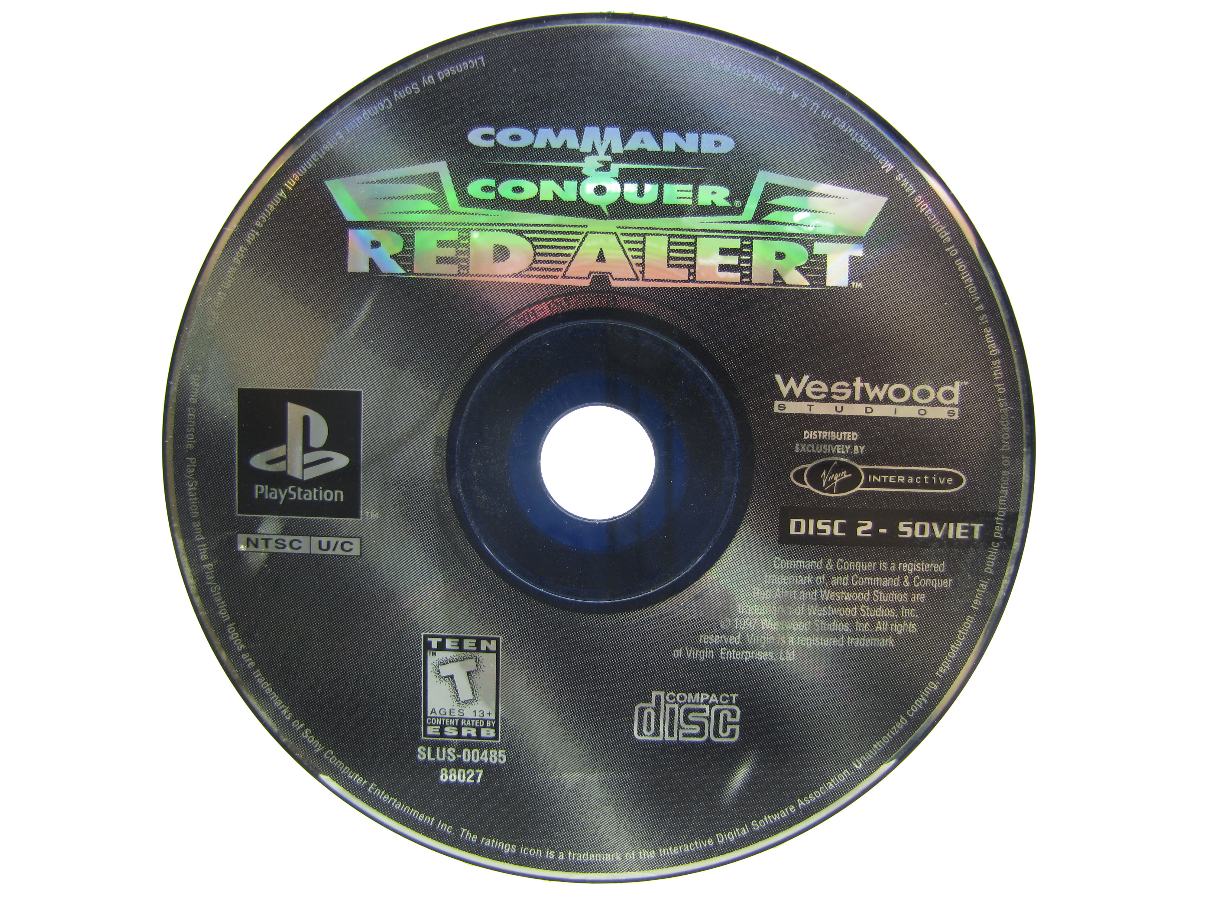PS1 Command & Conquer: Red Alert Disc 2 Soviet Disc Only - 1997